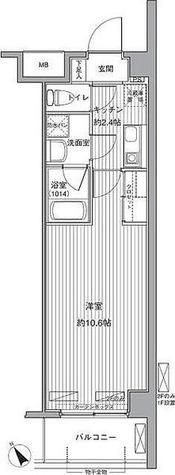 レ・ソール本八幡エルア / 1K(29.54㎡) 部屋画像1