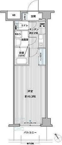 レ・ソール本八幡エルア / 1K(28.54㎡) 部屋画像1