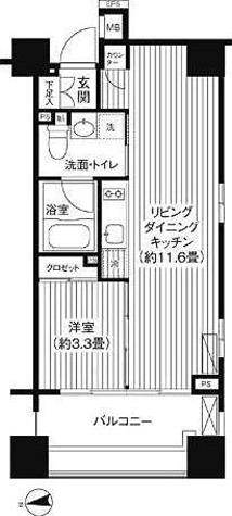 コスモグラシア芝大門 / 1階 部屋画像1