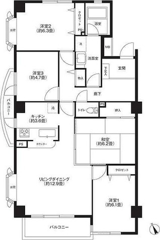 ヒューリックレジデンス京成津田沼 / 4LDK(89.44㎡) 部屋画像1