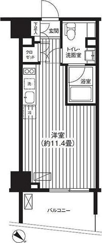Ti-HIGASHIAZABU(ティー東麻布) / 1R(26.77㎡) 部屋画像1