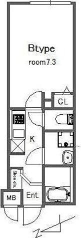bluepalette大山 / 1K(24.24㎡) 部屋画像1