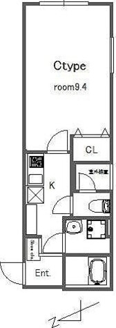 bluepalette大山 / 1K(30.4㎡) 部屋画像1
