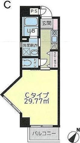 大口ハマコート5 / Cタイプ(29.77㎡) 部屋画像1