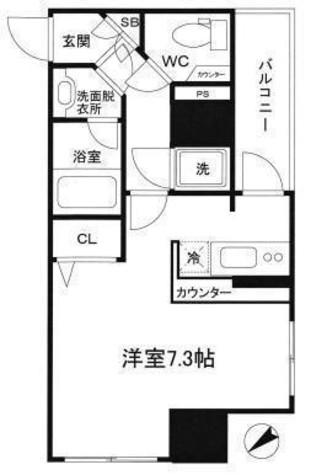 パレステュディオ渋谷EAST / 203 部屋画像1