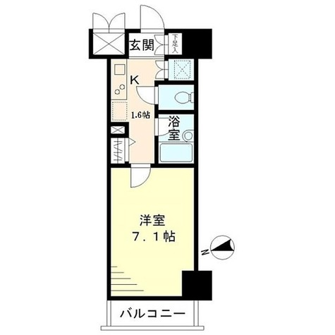 COURT新御徒町(コート新御徒町) / 1K(22.57㎡) 部屋画像1