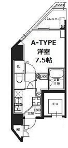 S-RESIDENCE蔵前 / Aタイプ(25.97㎡) 部屋画像1