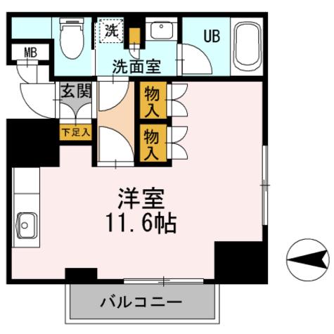 カスタリア栄 / ワンルーム(30.99㎡) 部屋画像1