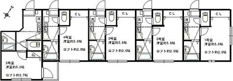 リーヴェルポート横浜Lisa / 1K(18.88㎡) 部屋画像1