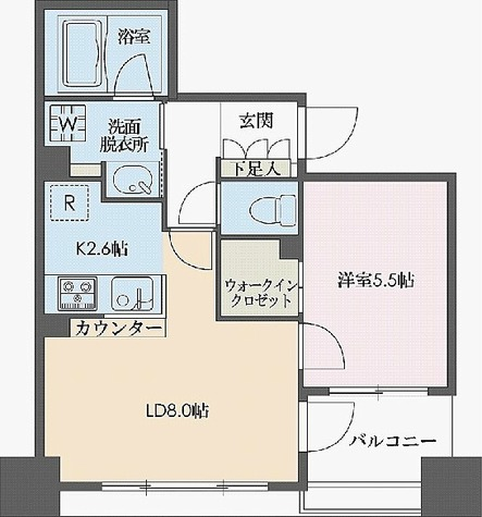 ドゥーエ新川 / Cタイプタイプ(40.35㎡) 部屋画像1