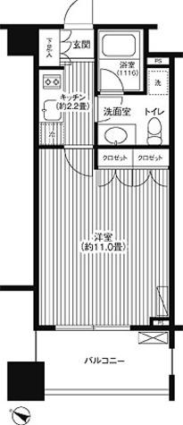 グランハイツ代々木 / 1K(31.36㎡) 部屋画像1