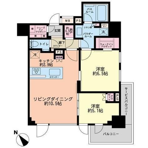 シティハウス中目黒ステーションコート / 14階 部屋画像1