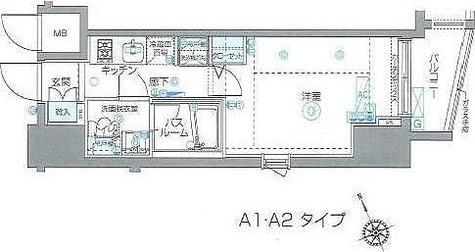 ZOOM Ebisu(ズーム恵比寿) / 1K'(21.84㎡) 部屋画像1
