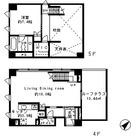 KDXレジデンス南青山 (旧Tre di Casa南青山) / 1LDK(70.48㎡) 部屋画像1