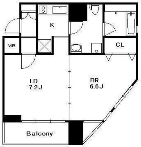 両国 4分マンション / 1DK(39.53㎡) 部屋画像1