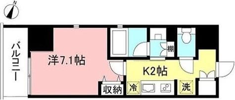プライムメゾン初台 / 1K(26.4㎡) 部屋画像1