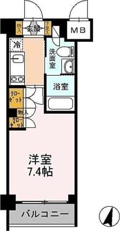 カスタリア武蔵小杉 / 1K(24.07㎡) 部屋画像1