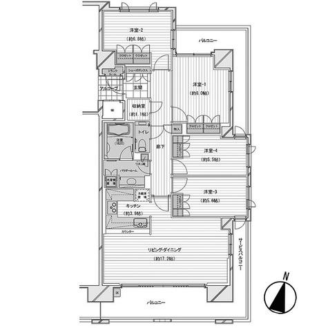 深沢ハウス Ⅰ / 4LDK(106.55㎡) 部屋画像1