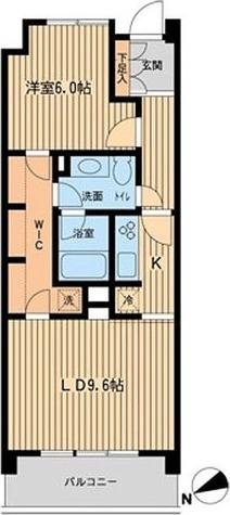 HF若林公園レジデンス(旧名称:ミルーム若林公園) / 1LDK(48.80㎡) 部屋画像1
