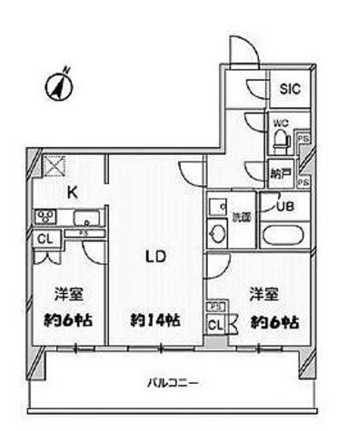 ドゥーエ大宮 / Dタイプ(59.69㎡) 部屋画像1