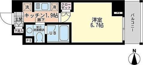 エスティメゾン哲学堂 / 1K(22.87㎡) 部屋画像1
