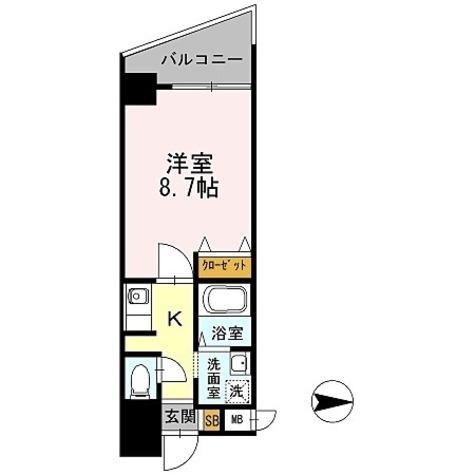 カスタリア新梅田 / 1K(27.28㎡) 部屋画像1