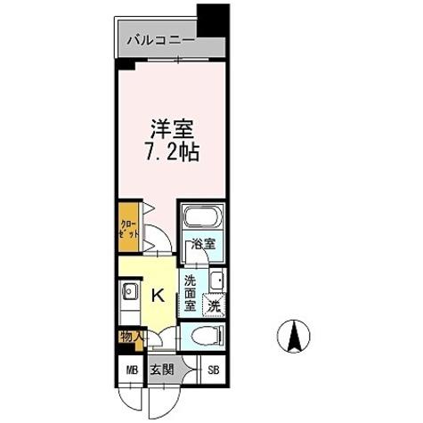 カスタリア堺筋本町 / 1K(24.65㎡) 部屋画像1