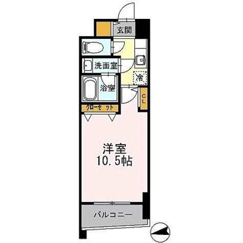 カスタリアタワー肥後橋 / 1K(31.50㎡) 部屋画像1