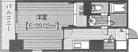 メゾン・ド・ヴィレ高輪 / 1K(29.02㎡) 部屋画像1