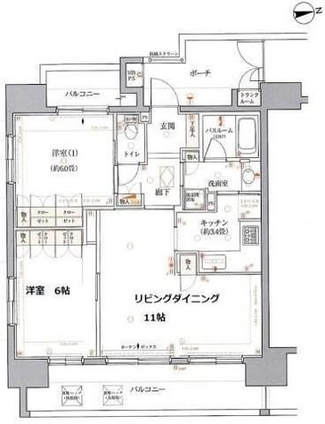 クリオ中延駅前壱番館 / 2階 部屋画像1