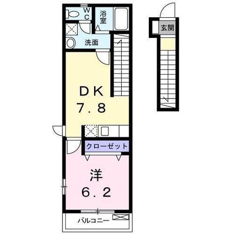 サウスリヴェール / 2階 部屋画像1