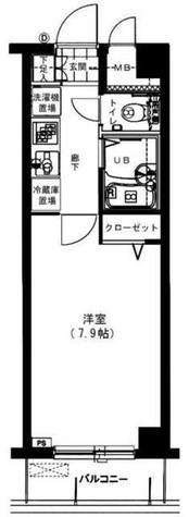 メインステージ広尾 / 402 部屋画像1