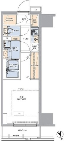 ボアビスタ門前仲町 / Fタイプ(25.44㎡) 部屋画像1