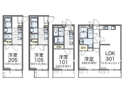 レオネクスト南新宿 / 3階 部屋画像1