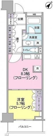 グレーシア横浜関内クオリテ / 8階 部屋画像1