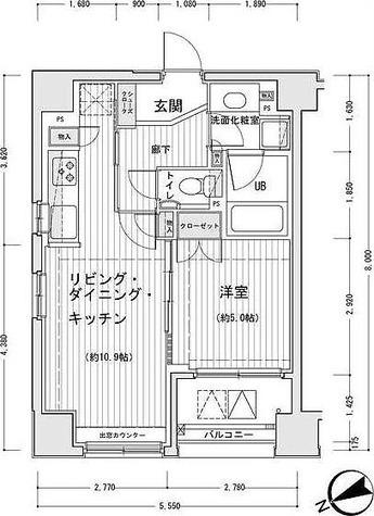 ドゥーエ銀座イーストⅠ / 1階 部屋画像1