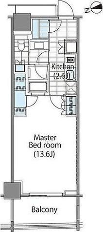 パークハビオ新宿イーストサイドタワー / 1LDK(42.53㎡) 部屋画像1