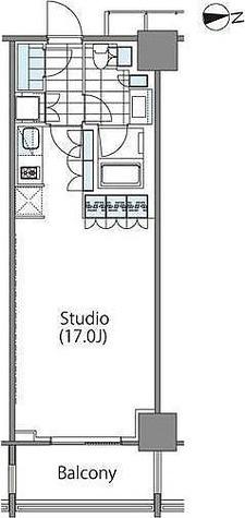 パークハビオ新宿イーストサイドタワー / ワンルーム(41.23㎡) 部屋画像1