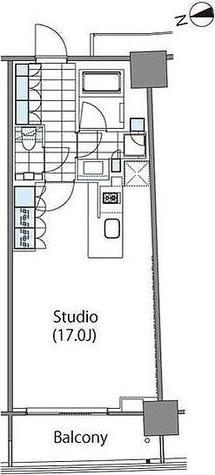 パークハビオ新宿イーストサイドタワー / ワンルーム(43.07㎡) 部屋画像1