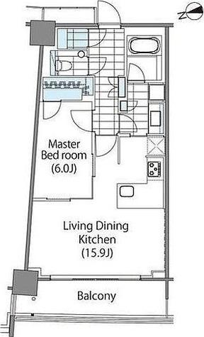 パークハビオ新宿イーストサイドタワー / 1LDK(55.32㎡) 部屋画像1