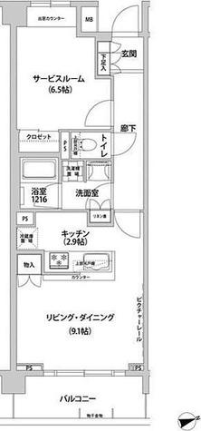 コンフォリア目黒青葉台 / ワンルーム(45.73㎡) 部屋画像1
