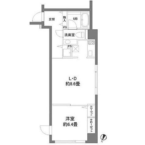 カスタリア水天宮(旧ニューシティレジデンス日本橋イースト) / 1LDK(40.49㎡) 部屋画像1