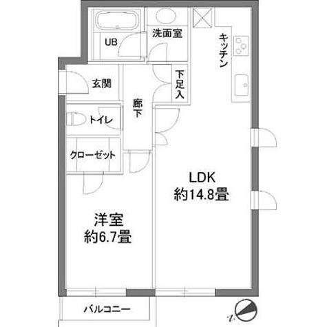 カスタリア西麻布霞町(旧ニューシティレジデンス西麻布) / 1LDK(51.73㎡) 部屋画像1