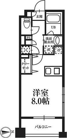 T's garden高円寺 / ワンルーム(25.27㎡) 部屋画像1