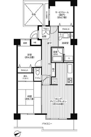 ヒューリックレジデンス京成津田沼 / 2LDK(65.85㎡) 部屋画像1