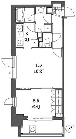 アパートメンツ浅草橋リバーサイド / 1LDK(46.64㎡) 部屋画像1