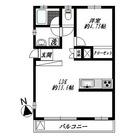 柿の木坂あらた (柿の木坂1) / 1LDK(43.56㎡) 部屋画像1