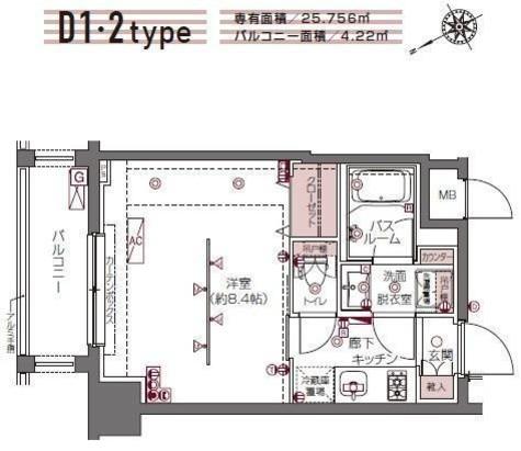 ZOOM白金高輪 / 7階 部屋画像1