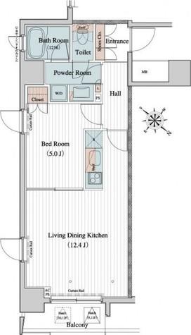 レジディア月島Ⅱ / 12階 部屋画像1