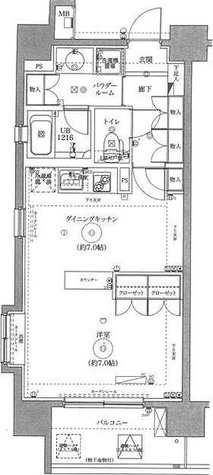 スパシエルクス西川口 / 1DK(38.67㎡) 部屋画像1